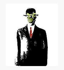Banksy style son of man Photographic Print