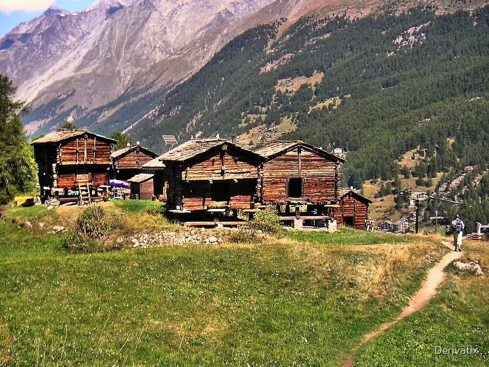 Mountain huts by Derivatix