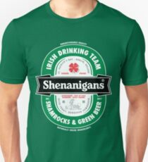Saint Patrick's Day Shenanigans Beer Label T-Shirt