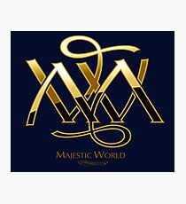 Majestic World Logo GOLD on BLACK BY MAMARTIN Photographic Print