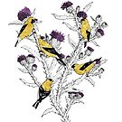 Goldfinches by Caitlin Rausch