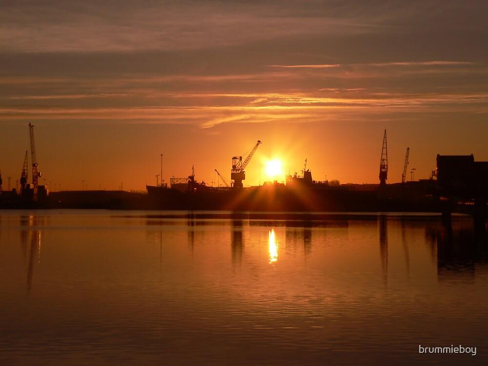 Sunrise over the Docks by brummieboy