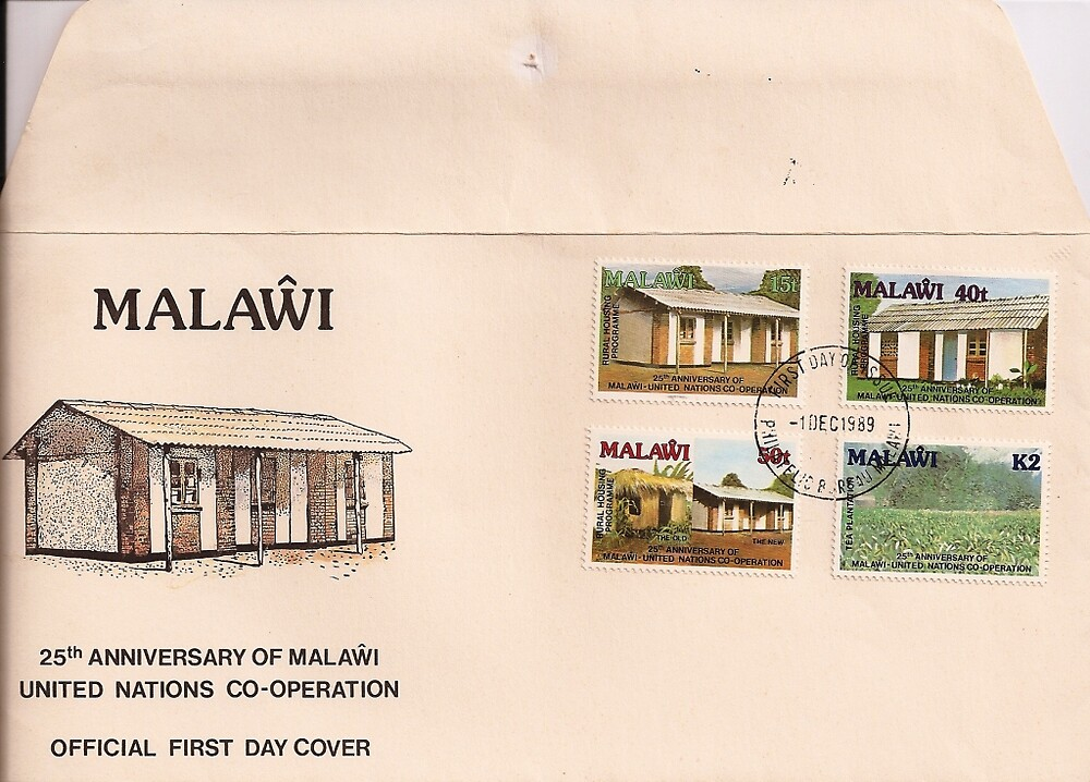 Malawi First Day Postage by Patrick Ronan