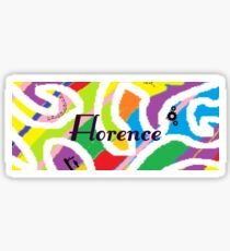 Florence - Original painting personalized with your name Sticker