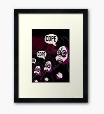 Oh, Ink Hooray - Flake By Night Framed Print