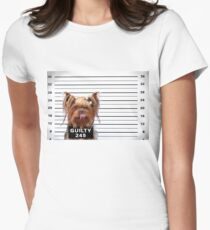 Guilty Yorkie Women's Fitted T-Shirt