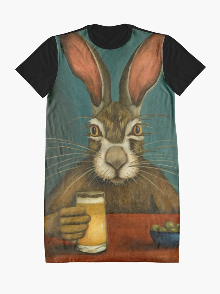 Alternate view of Bunny Hops Graphic T-Shirt Dress
