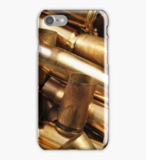 Empty, used, assorted, spent brass bullet casings iPhone Case/Skin