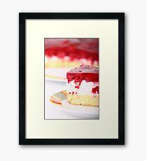 rapsberry layer cake Framed Print