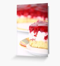 rapsberry layer cake Greeting Card