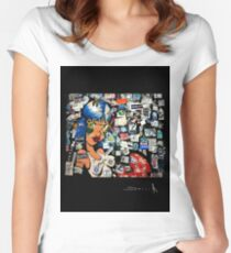 R D Amsterdam Women's Fitted Scoop T-Shirt