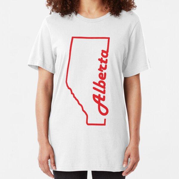 Alberta Province Map Design Slim Fit T-Shirt