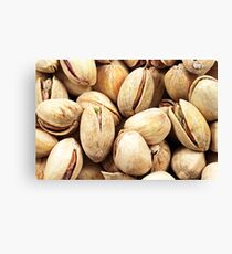 A close up image of pistachio nuts Canvas Print