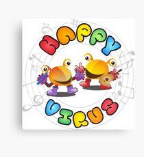 Happy Virus - Large Logo Canvas Print