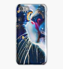Night Prowler, Abstract cat after dark. iPhone Case/Skin