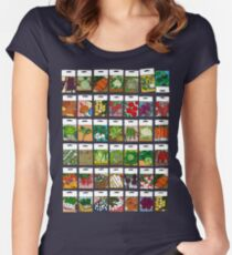 Vegetable seeds pattern Women's Fitted Scoop T-Shirt