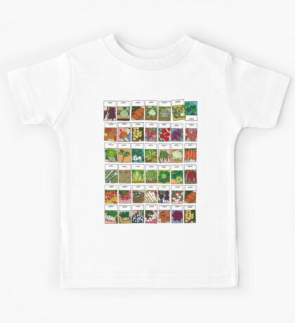 Vegetable seeds pattern Kids Clothes