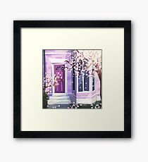 Purple and Blossoms Framed Print