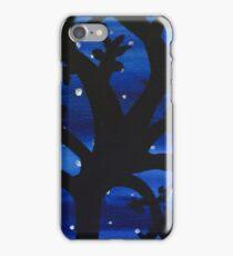 Tree in a Blue Night Sky iPhone Case/Skin