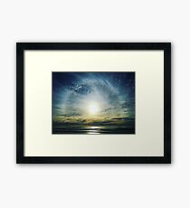 The Lord is over the waters... Framed Print