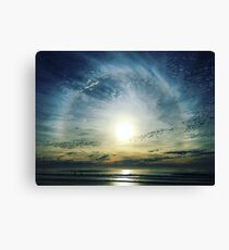 The Lord is over the waters... Canvas Print