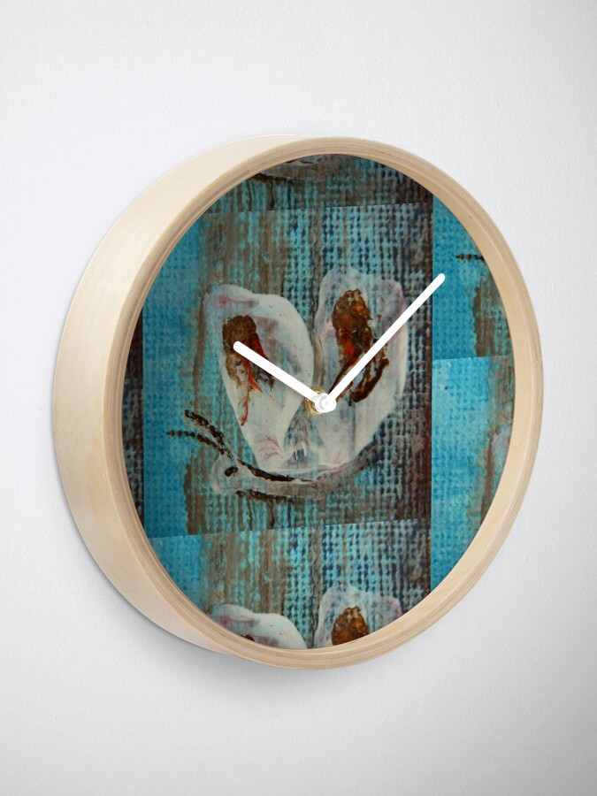 Alternate view of Butterfly. Impressionism Clock