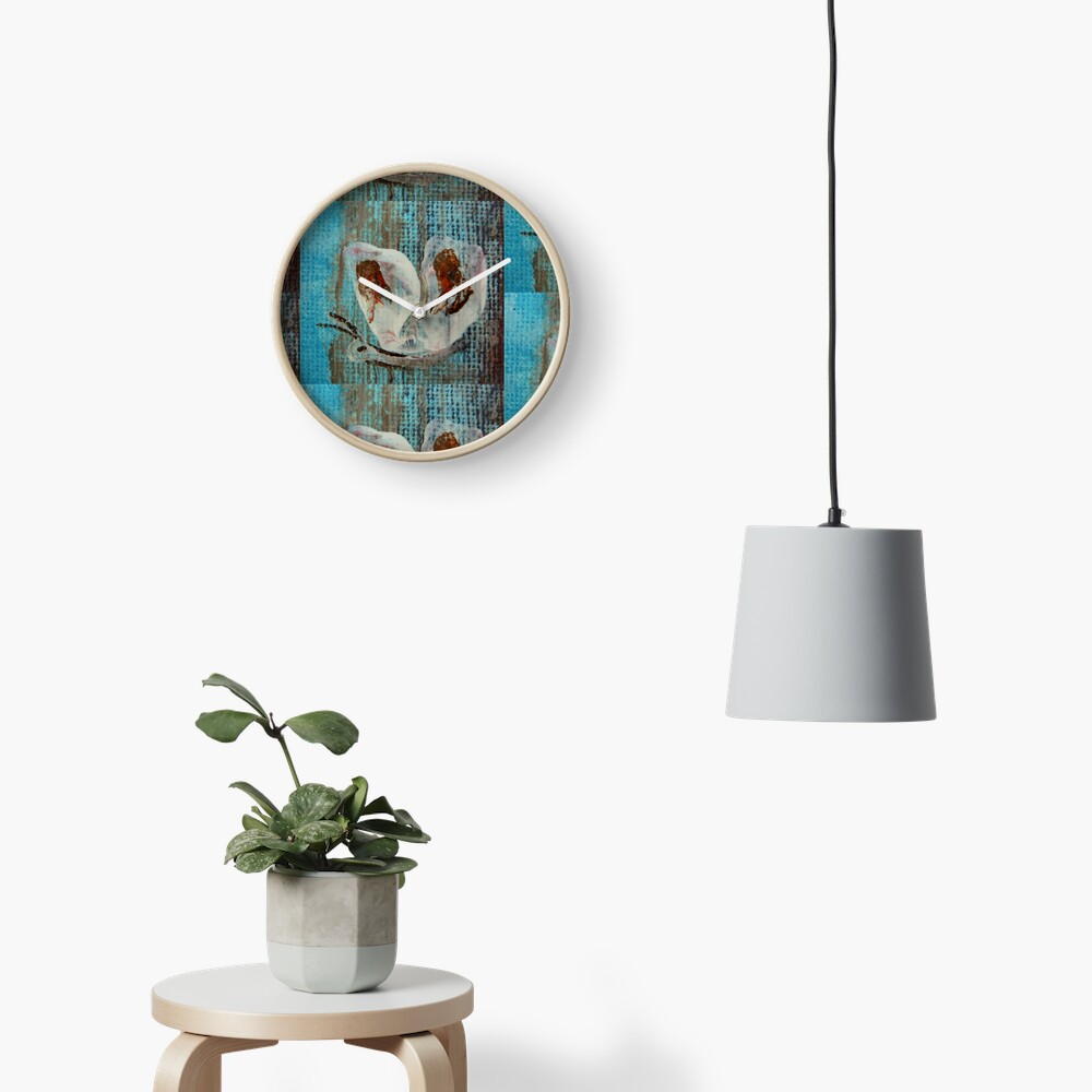 Butterfly. Impressionism Clock