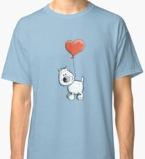 West Higland White Terrier with balloon Classic T-Shirt