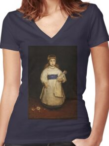 Frank Duveneck - Mary Cabot Wheelwright 1882 Women's Fitted V-Neck T-Shirt