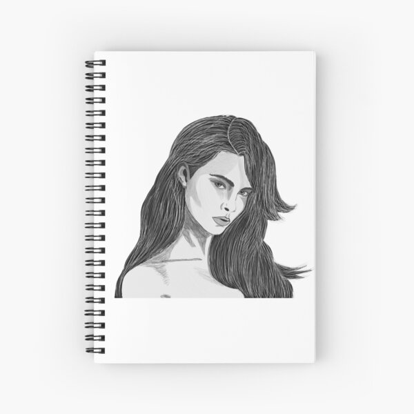 The Girl With Long Hair Spiral Notebook
