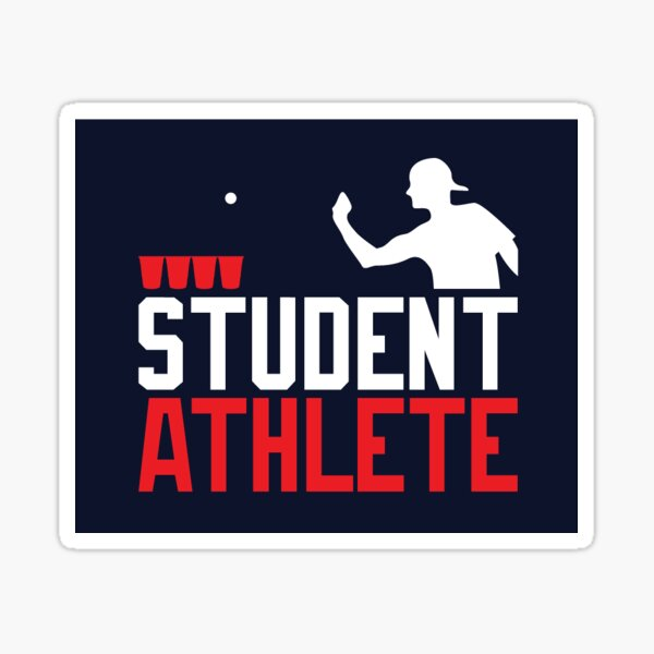Student Athlete Beer Pong Sticker
