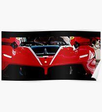 Ferrari FXX-K Red Poster