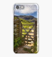 Gate To The Coniston Old Man iPhone Case/Skin