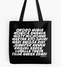 Black SuperSHEroes - White type Tote Bag
