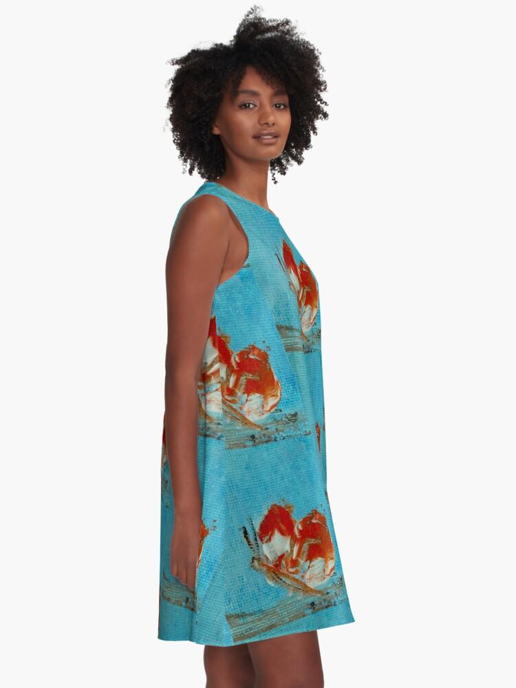 Alternate view of Orange butterfly A-Line Dress