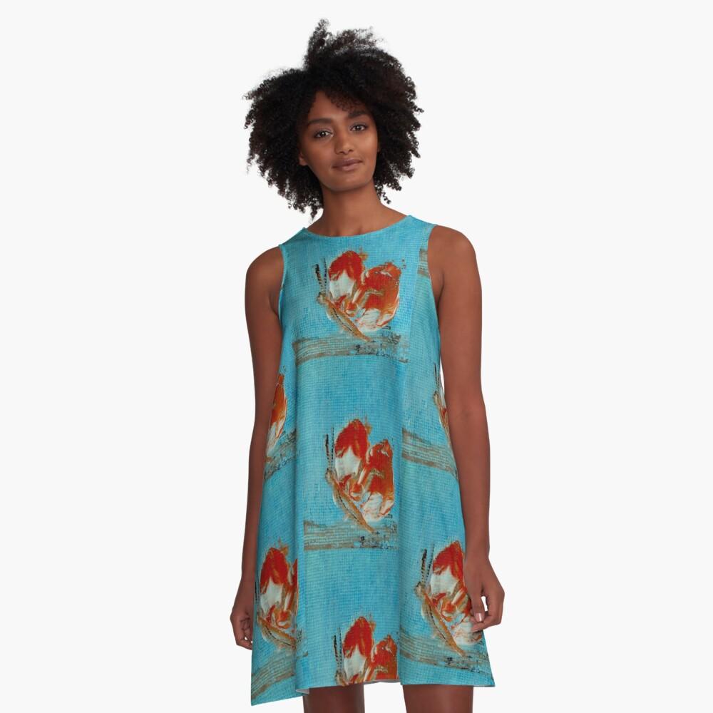 Orange butterfly A-Line Dress