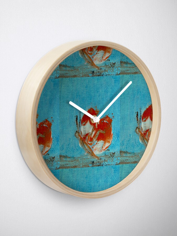 Alternate view of Orange butterfly Clock