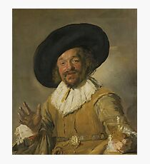Frans Hals - A Militiaman Holding A Berkemeyer, Known As The merry Drinker , 1630 Photographic Print