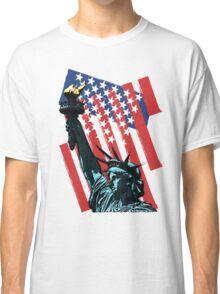 Stars, stripes and liberty Classic T-Shirt