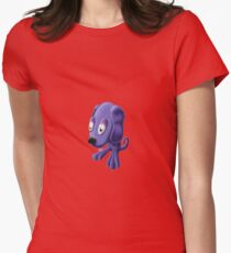 Frog Dog Womens Fitted T-Shirt