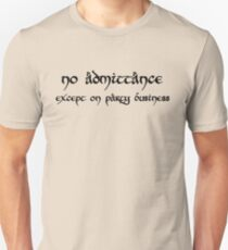 No Admittance (black) T-Shirt