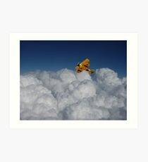 Fly through the clouds Art Print