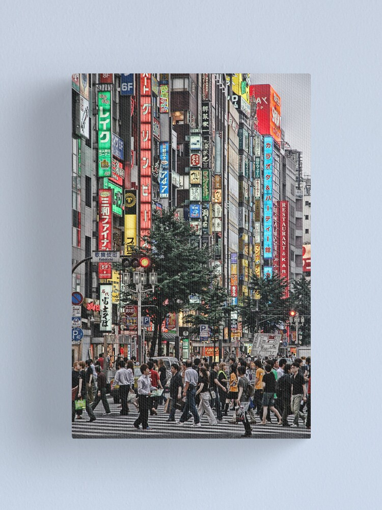 Alternate view of Tokyo - Chaos Crossing Canvas Print