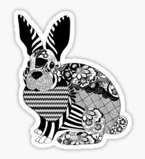 Abstract Bunny Sticker