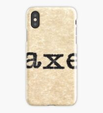 "A close up image of the words ""Taxes"" from a typewriter iPhone Case/Skin"