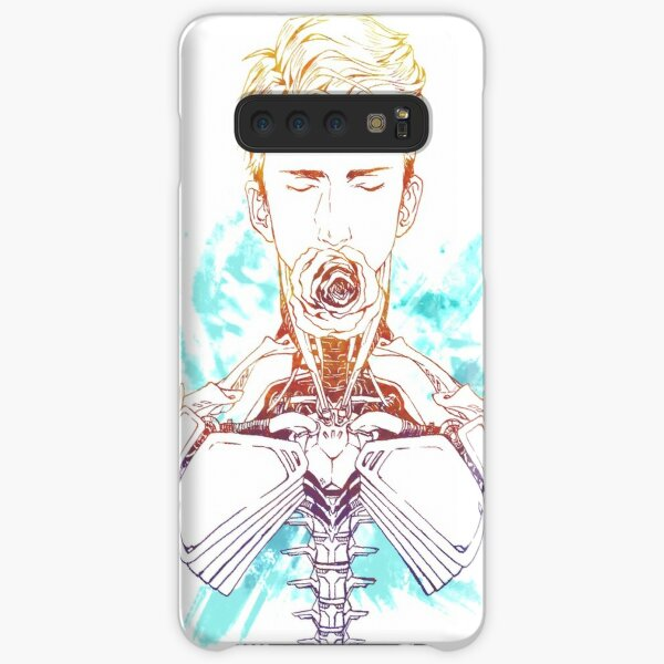 Cyborg Guy with Rose (blue) Samsung Galaxy Snap Case