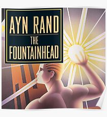 The Fountainhead by Ayn Rand - Cover Poster