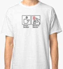 Press Button Receive Bacon Classic T-Shirt