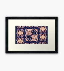 African Textile Framed Print
