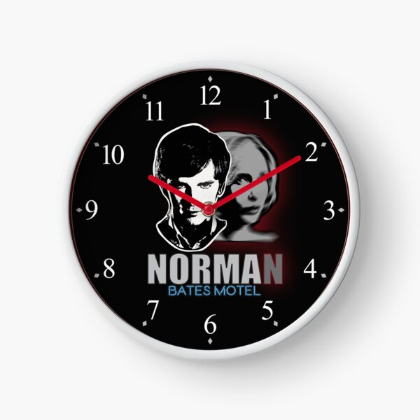 Norma-Norman 2 Bates Motel Clock